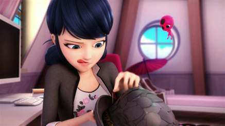 Marinette and Tikki from Miraculous Ladybug